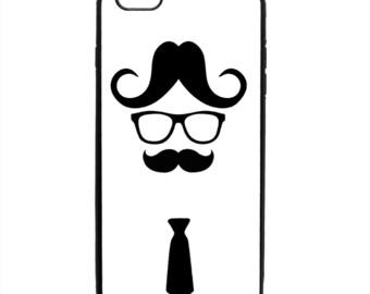 Mustache Tie Print Phone Case Samsung Galaxy S5 S6 S7 S8 S9 Note Edge iPhone 4 4S 5 5S 5C 6 6S 7 7S 8 8S X SE Plus
