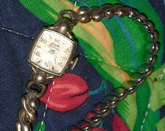 1920s Elgin Deluxe Watch, Spiedel Wristband