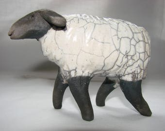 Raku white sheep