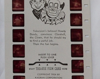 Tru-Vue 3D Viewing Card 1950s Howdy Doody Vintage Collectable Toy