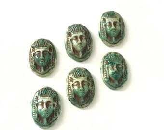 Vintage Mummy King Tut Cabochon Egyptian Revival (1)