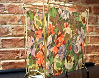 Fabulous Floral Mid Century Magazine Rack