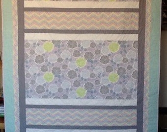 Pretty in Pastels and Stripes Quilt