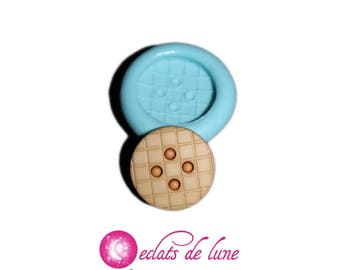 Silicone mold 17mm button