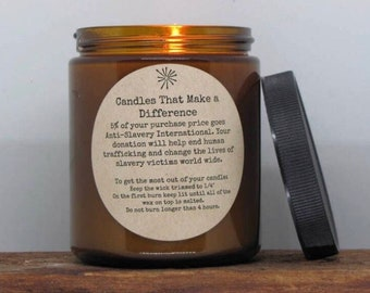 Eucalyptus & Spearmint- Natural Soy Wax Candle for a Cause