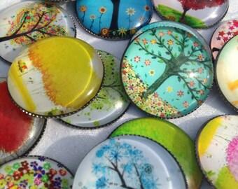 Tree of Life Magnets Set of 6 ~ Teacher Gift | Housewarming Gift | Party Favor | Stocking Stuffer | Office Gift