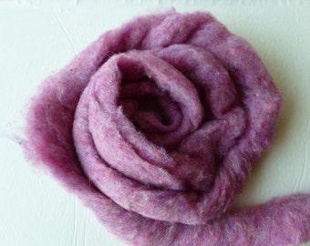 Wool Roving, Raspberry by Bartlett yarns