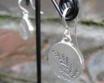 Killarney Fern Sterling Silver Earrings