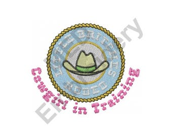 Cowgirl in Training - Machine Embroidery Design, Cowgirl, Rodeo