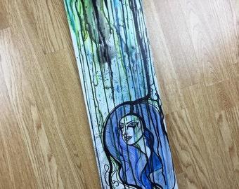 Dripping lady long canvas original artwork
