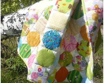 "Baby quilt Forest Glade / Детское лоскутное одеяло ""Лесная поляна"""