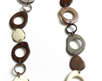 Long statement necklace - Tagua nut necklace - Ladies necklace - Tagua jewelry - Presents for ladies - Christmas presents for her -