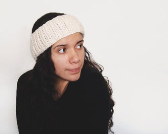 custom knit headband - the ceph earwarmer in fisherman, or your color of choice