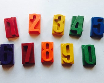 Number crayons