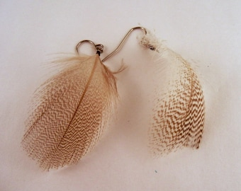 Feather Earrings natural mallard cruelty free