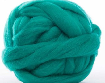 Merino Wool Top - 22.5 micron -Jade - 4 ounces