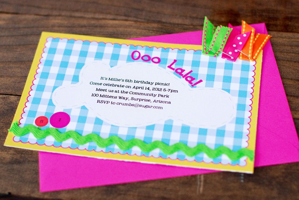 Lalaloopsy inspired Birthday Party Invitations Printable