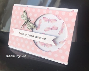 """card """"happy mother's day"""" dragonflies for a sweet MOM!"""