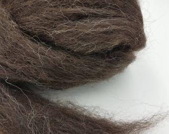 1 pound Zwartbles combed top, roving, spinning fiber, felting fiber, fiber