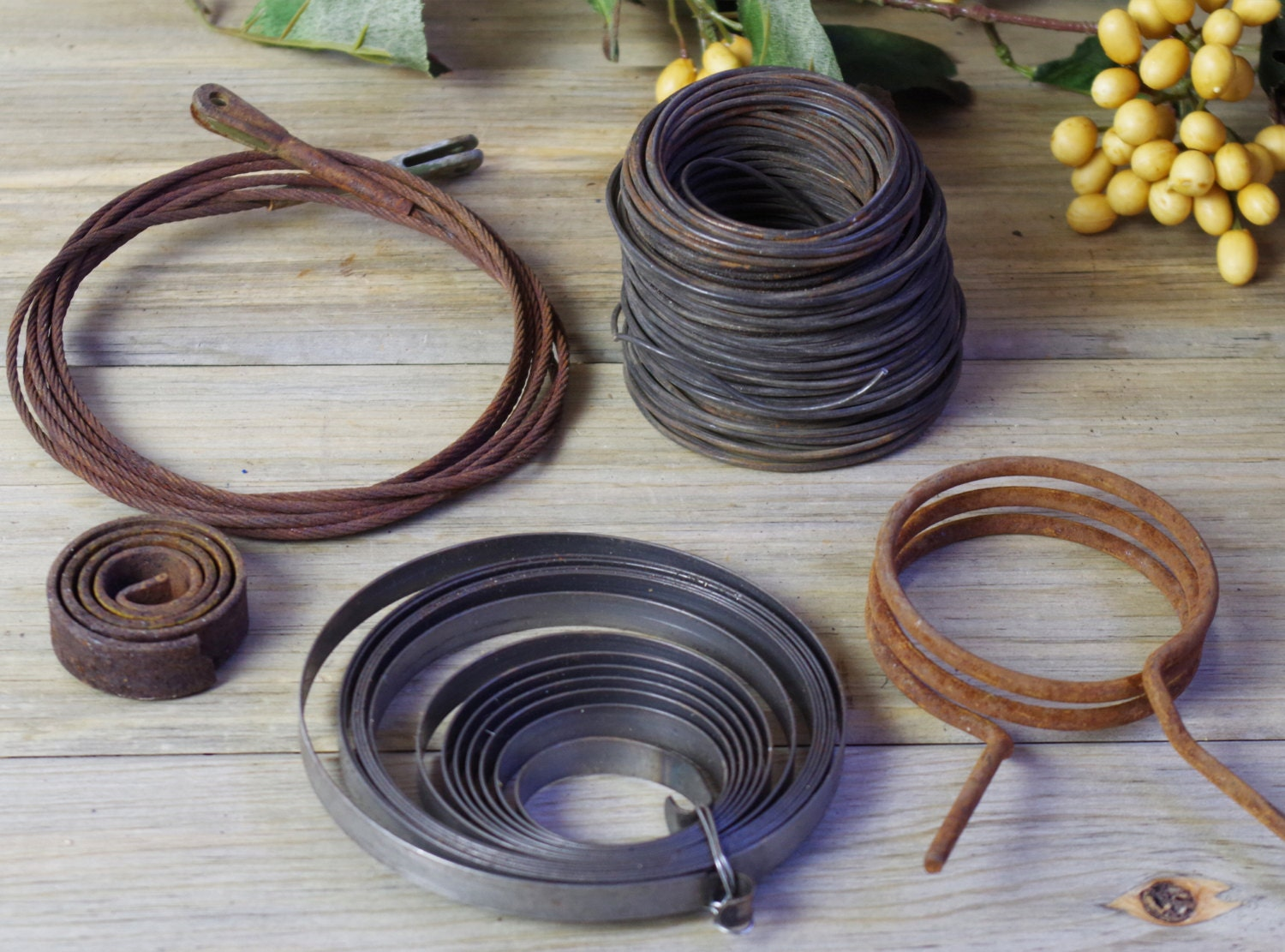 Metal Wire Heavy Starter Springs Salvaged Altered Art