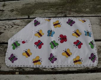 Rainbow Butterflies Burp Cloth