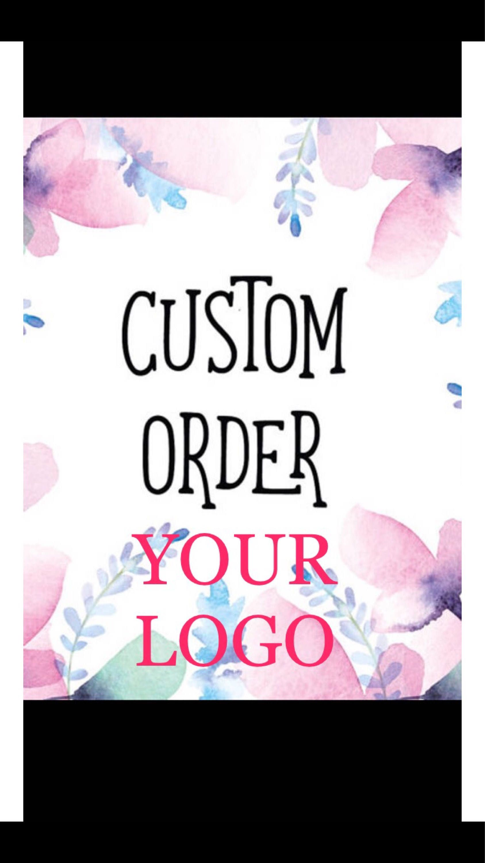 Custom writing company logo stickers