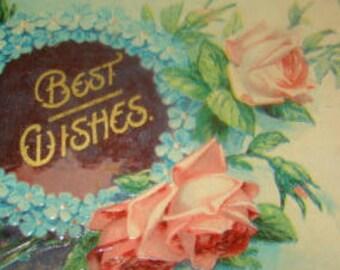 Lovely Vintage Embossed Floral Postcard