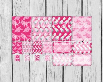 16 Planner Stickers Full Box Half Box Flags Graduation Planner Stickers in Pink eclp PS384 Fits Erin Condren Planners