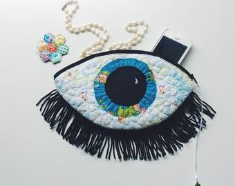 Blue eye - bag - clutch