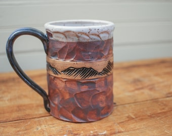 Boulder Mugs with Mountain Design - 12 oz