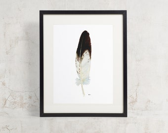 Watercolor Eagle Feather