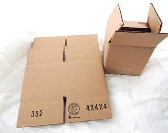7 4x4x4 Cardboard Shipping Boxes, 32lb Edge crush Test High Quality Shipping Boxes, Mailing Boxes, Candle Boxes packing Boxes, Wholesale
