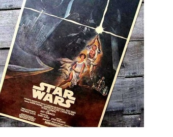 Star Wars 3 retro nostalgia Kraft paper, old poster Bar hangs a picture Science fiction adornment picture