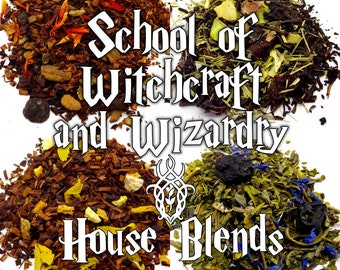 School of Witchcraft and Wizardry House Blends Pack - Harry Potter gift, Harry Potter Houses, fandom tea, book lover gift, witch wizard gift