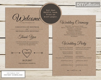 Mint Green Wedding Program Mint Program Fan Program - 5x7 wedding program template