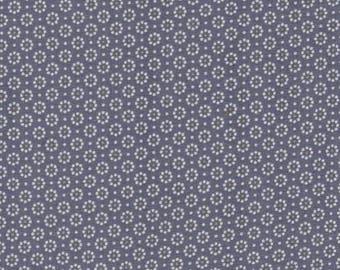 A. U maison oilcloth Belle Fleur Stone Blue flower coated cotton