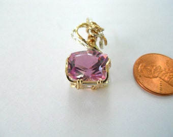 Jewelite Faceted Pendant in Sterling Silver & Gold Filled