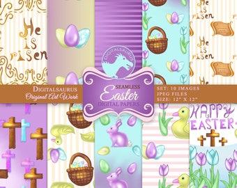 Printable Easter Digital Paper, Scrapbooking paper download