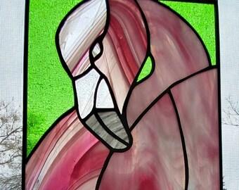 Flamingo Stained Glass Sun Catcher