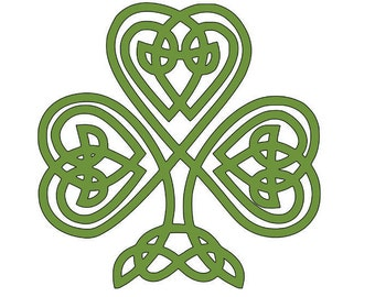 Celtic Shamrock Vinyl Decal, Laptop Decal, Phone Decal, Tablet Decal, Car Decal, Personalized, St. Patrick's Day