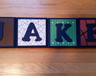 Sports Themed Letter Wall Decor