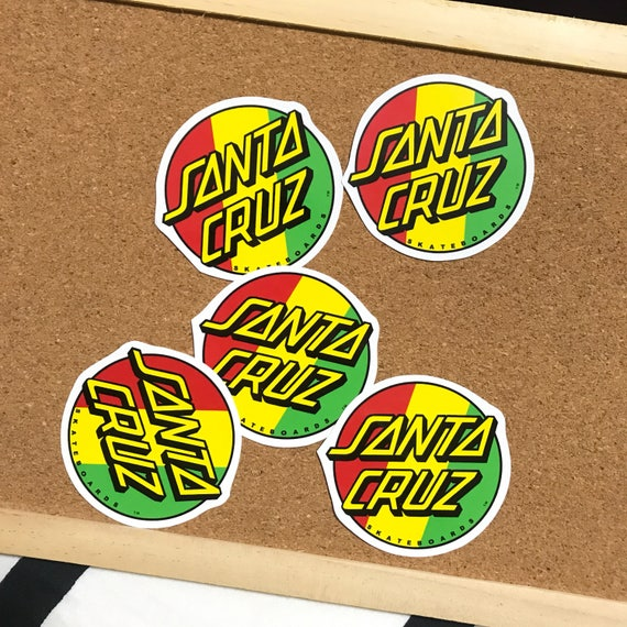 Santa cruz skateboard stickers