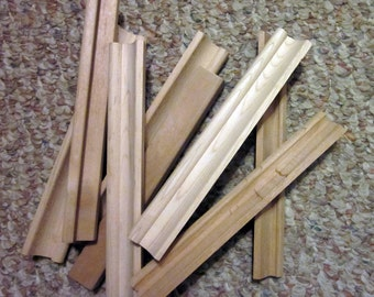 Eight Wooden Scrabble Tile Racks - Two Different Styles