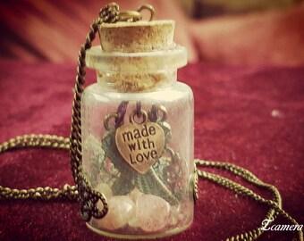 Universal Angel Love Strawberry Quartz Necklace