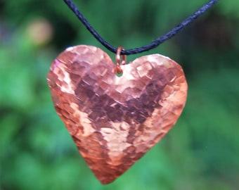 Copper Heart Pendant, Copper Heart, Heart Jewelry, Valentine Jewelry,Nati Valentine Heart, Love, Cherokee Copper, Native American
