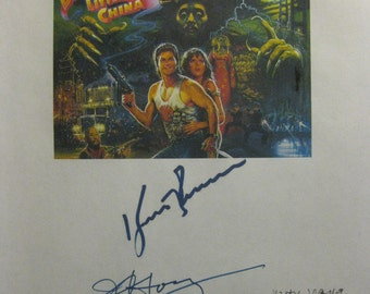 Big Trouble in Little China Signed Film Movie Screenplay Script Autograph Kurt Russell Kim Cattrall James Hong John Carpenter Chao Li Chi