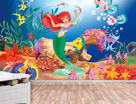 Awesome Little Mermaid Wall Mural Ariel Wallpaper Wall Décor Wall