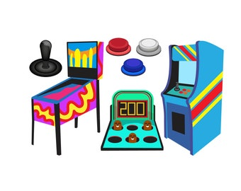 80s clipart etsy rh etsy com arcade game clipart arcade game clipart
