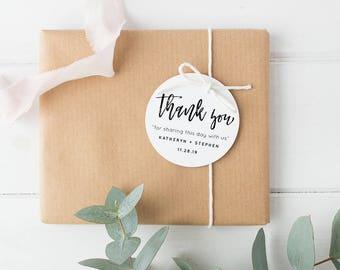 Thank You Tag, Wedding Thank You Tags, Thank You Tags Printable, Wedding Favor, Circle label Printable, Wedding Thank You Tags PDF Template