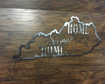 Home Sweet Home Kentucky State Outline
